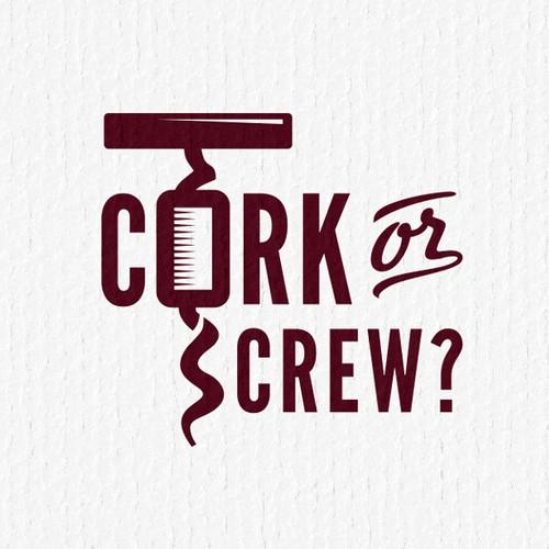 logo for Cork or Screw?