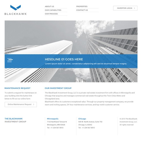 Guaranteed - Help The Blackhawk Investment Group Define Their Brand With a New Website