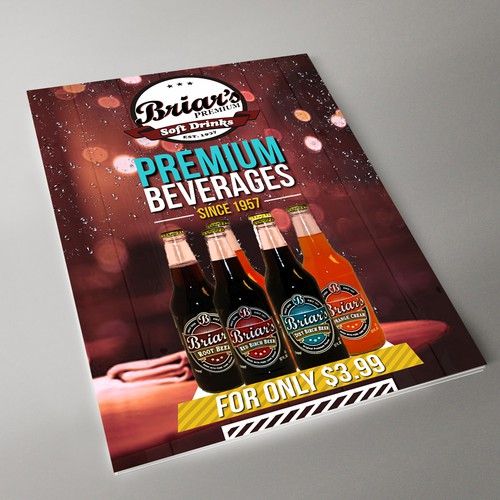 Flyer for Briar's Beverages