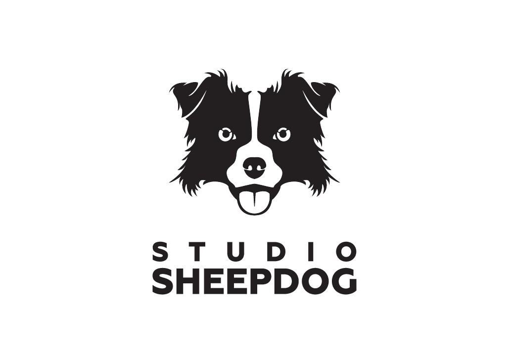 Design a sheepdog inspired logo for a software company serving portrait studios