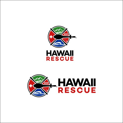 modern bold logo for Hawaii Rescue