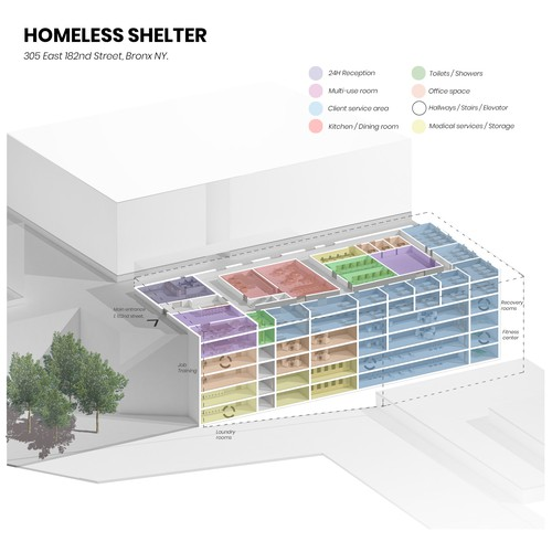 Homeless Shelter Rendering