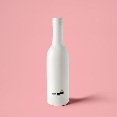 mr moo ceramic bottle