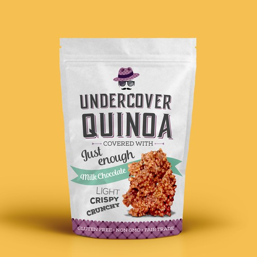 Package design for Undercover Quinoa