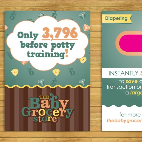 The Baby Grocery store card design