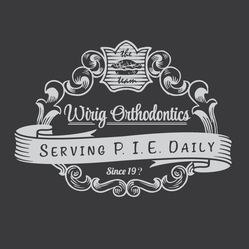 Vintage Pie logo for bold orthodontic office