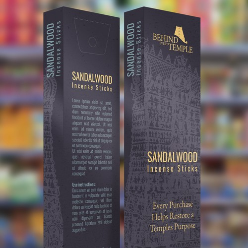 Incense sticks packaging