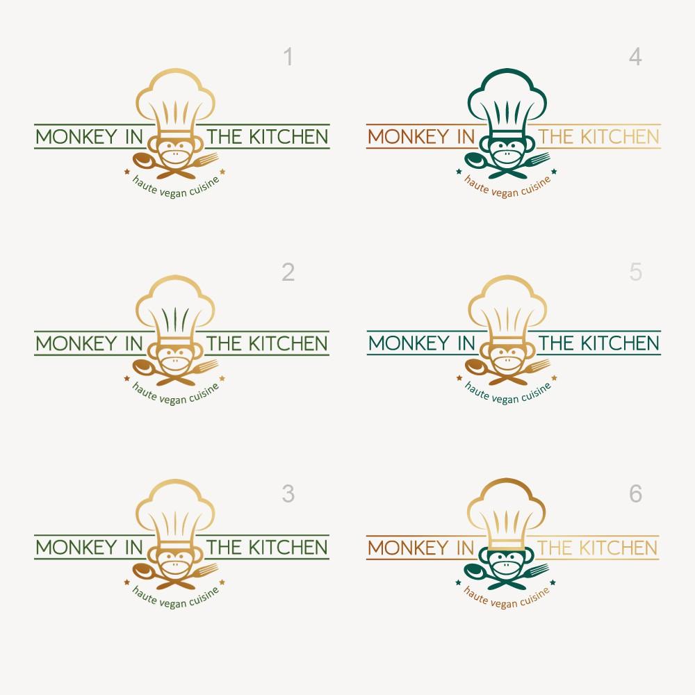 Logo for a vegan class restaurant with haute cuisine --- Logo für veganes Edel-Restaurant mit gehobener Küche