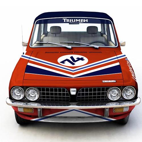 Wrap fo vintage racing car