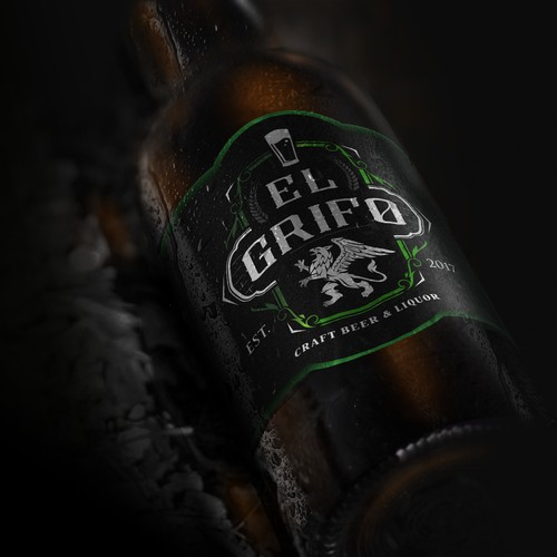 El Grifo, Craft beer & Liquor logo.
