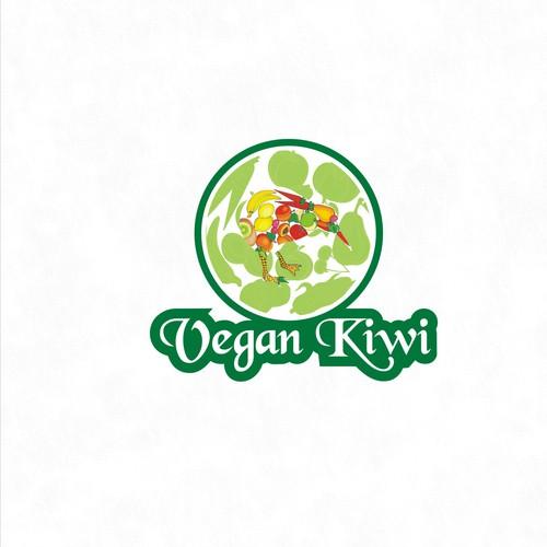 Bold logo concept for vegan kiwi