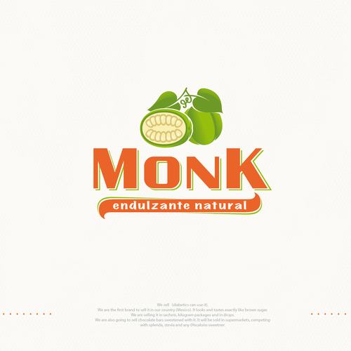 Logo for natural sweetener (from monk fruit)