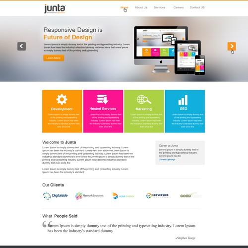 Help Junta with a new website design