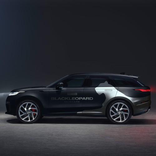 Black Leoapard car Wrap
