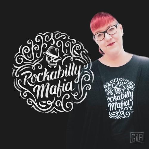 Tshirt design for rockabilly band