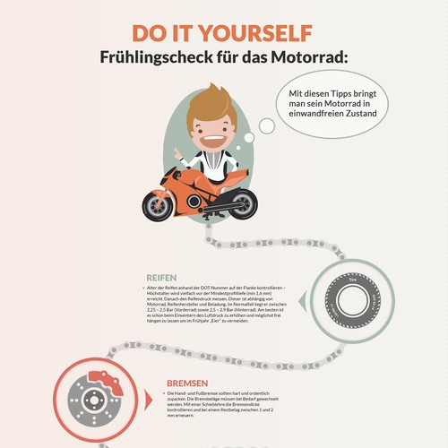 Infographic for preparing your motorbike for the ride season