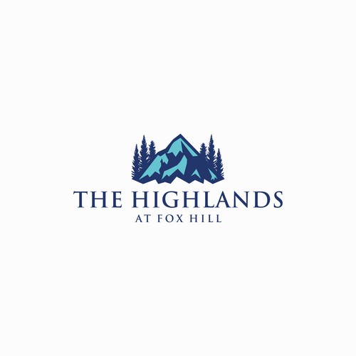 Logo for a real estate company at the hills