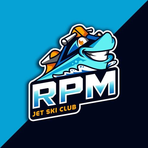 Playful Jet Ski Mascot logo