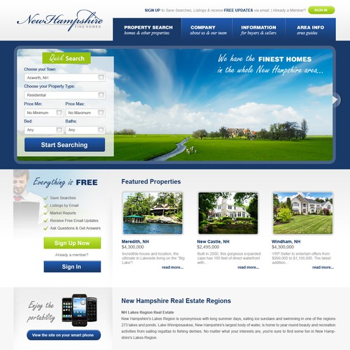 New Hampshire Fine Homes needs a new website design
