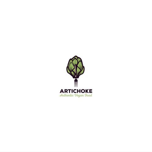 Creative logo for vegan restaurant