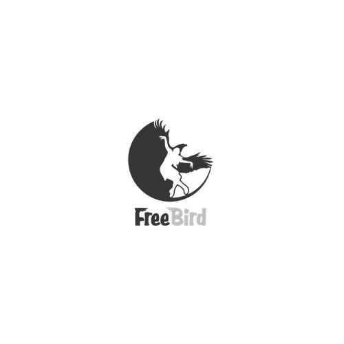 black and white dinamic logo for dance