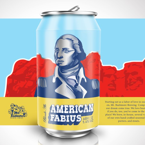 Patriotic Beer Can