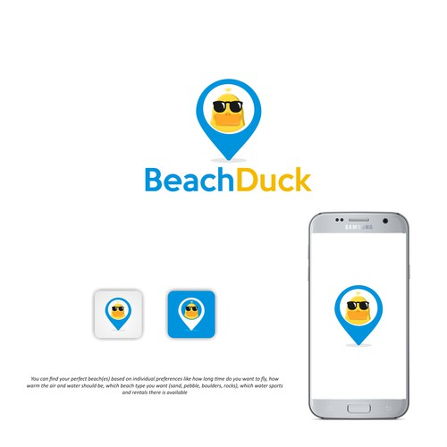 Logo for Startup that helps users find the perfect beach