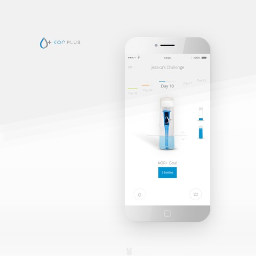Mobile app for KOR+ water