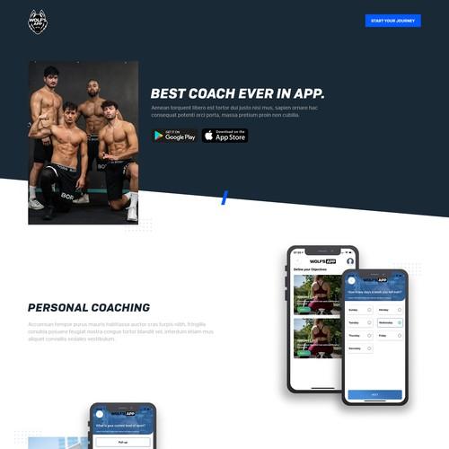 Fitness App Landing page