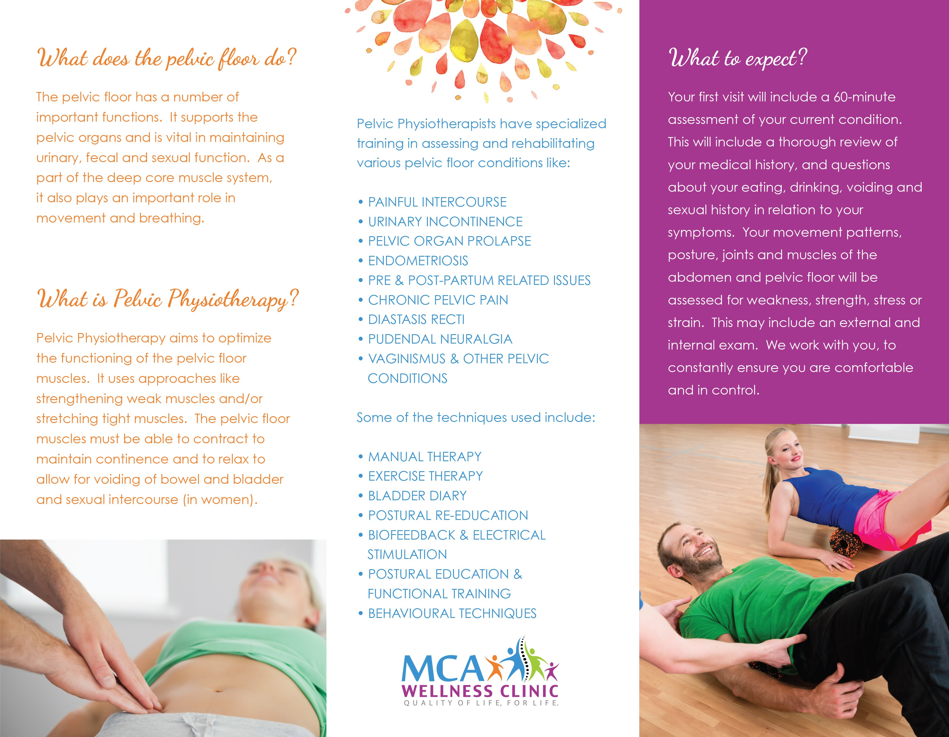 Pelvic Health Physiotherapy Brochure