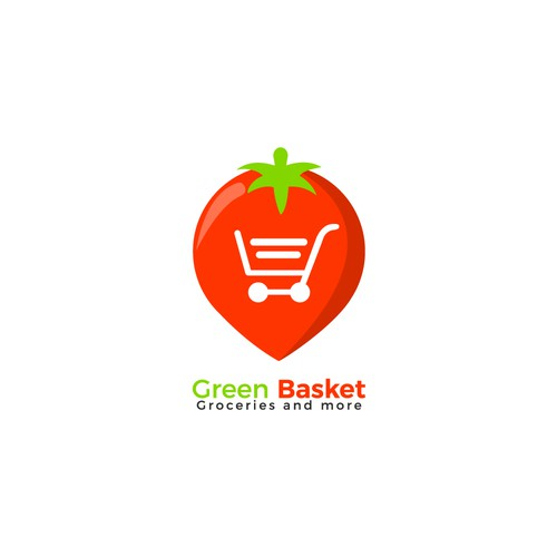 "logo for app ""Green Basket"""