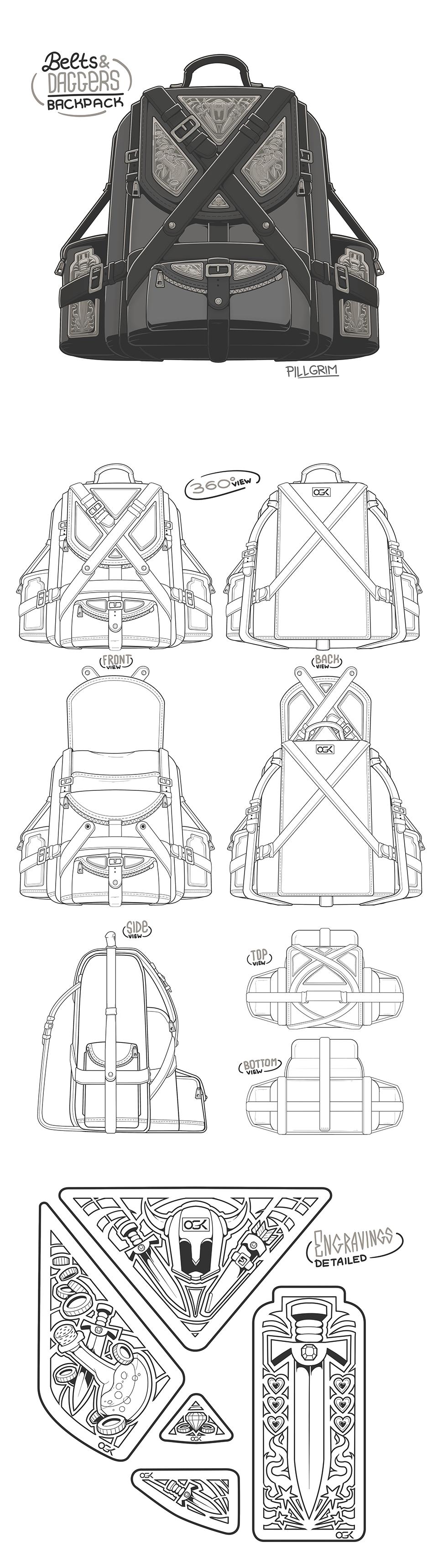 Medieval Backpack Design