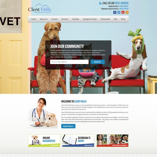 ClentHills Vets Landing Page