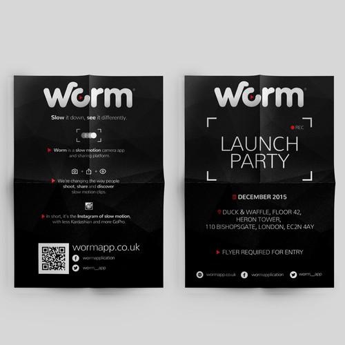 Flyer design for slow motion app