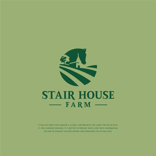 Flat logo concept for STAIR HOUSE FARM