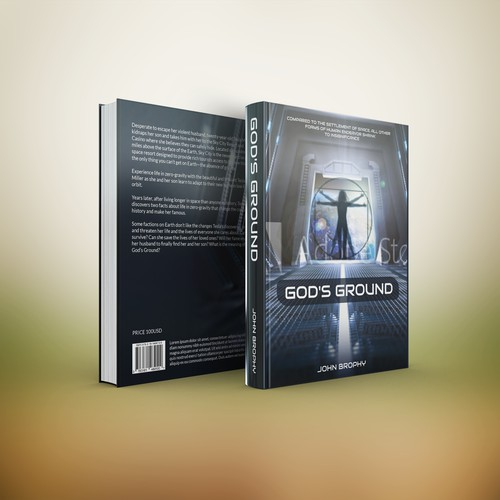 Futuristic Book Cover Design