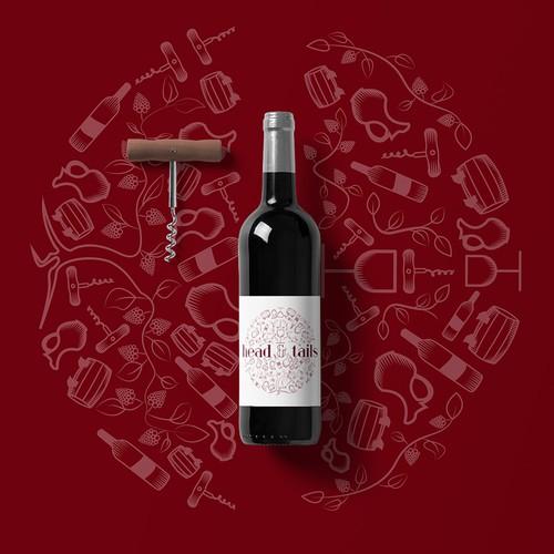 Modern Wine Label