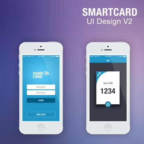 Design a minimalistic and clean GUI for a mobile web application. Mockups are supplied