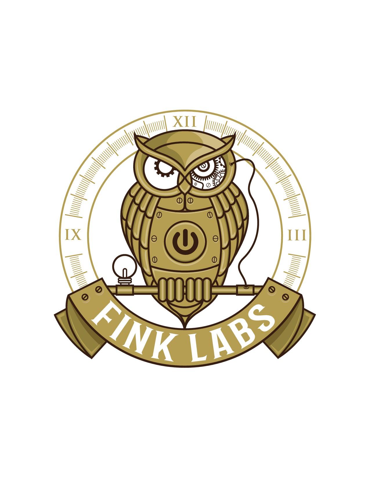steampunk logo for innovative technology company