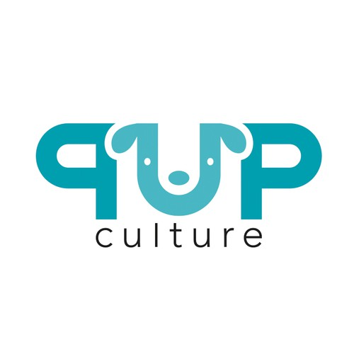 Pup culture logo design