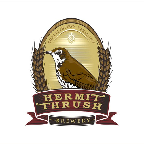 logo concept for hermit thrush