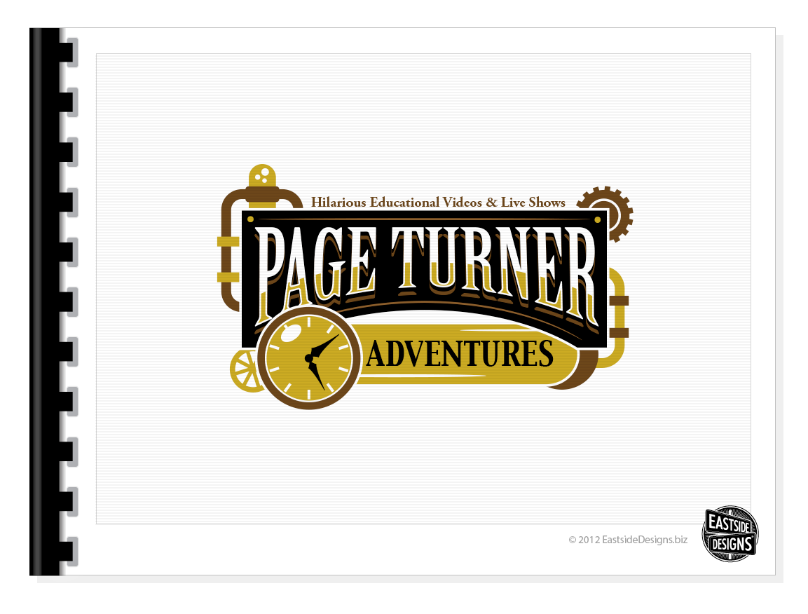 Create the next logo for Page Turner Adventures