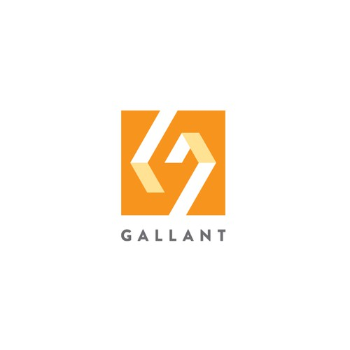 Bold geometric monogram logo