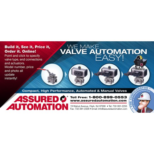 Design a modern, industrial look print ad for Assured Automation