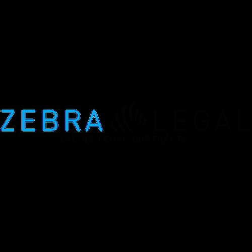 Create a simple, modern logo for zebralegal