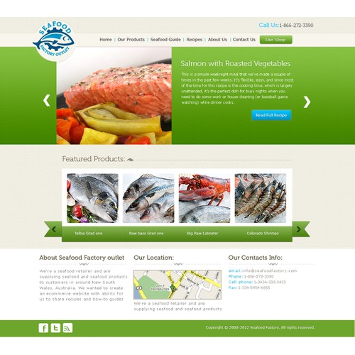 Seafood Factory Outlet Website Design (Guaranteed Prize, NO CODING)