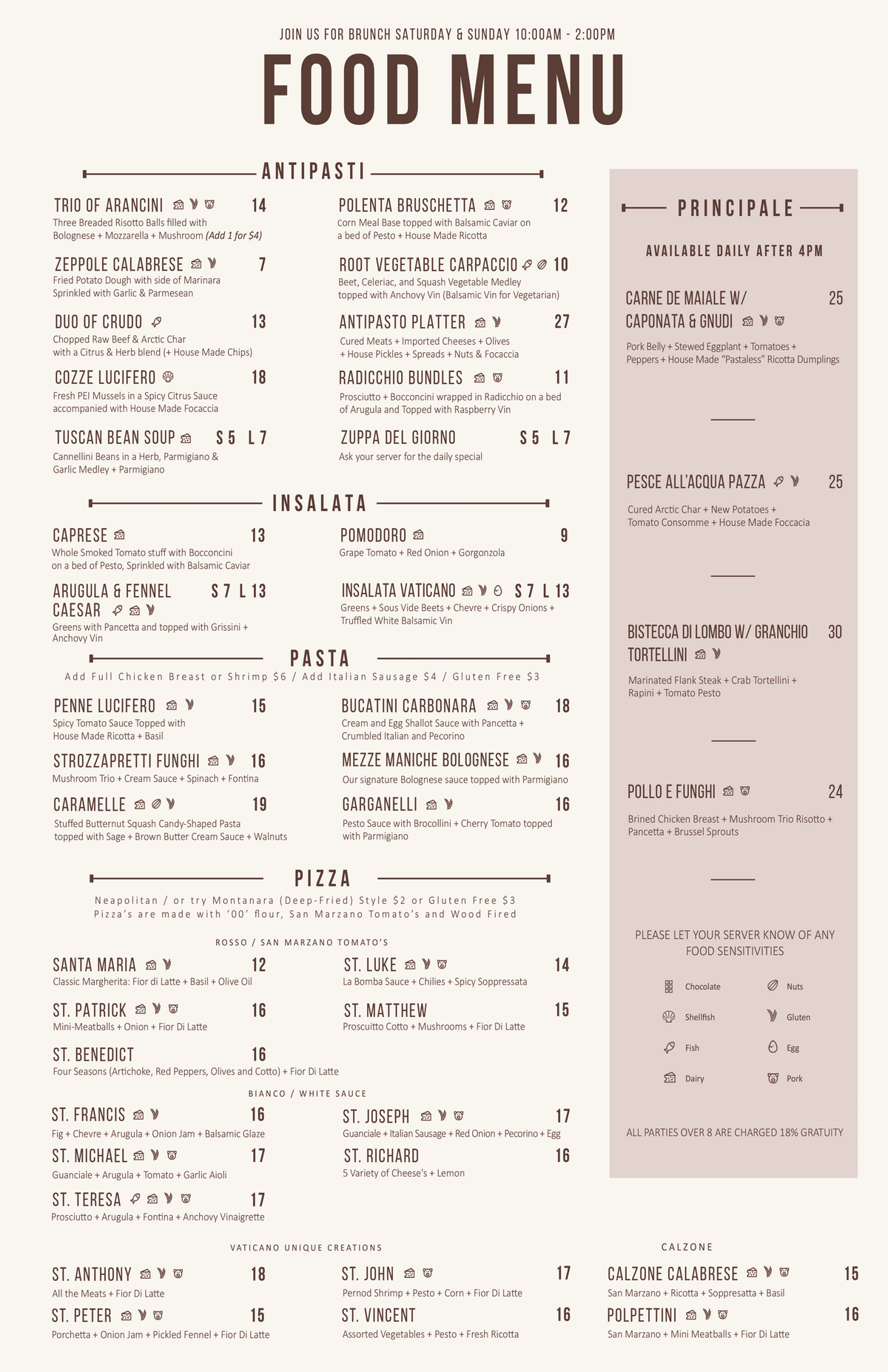 Need some small edits done to a menu