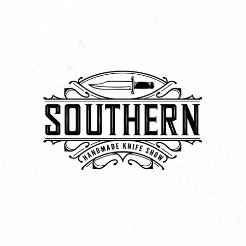 Vintage inspired logo for The Southern Handmade Knife Show