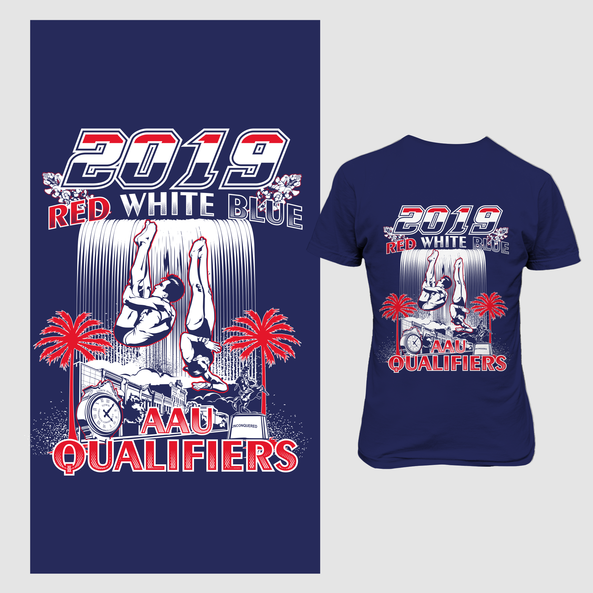 Diving for 2000 + Springboard Diving regional T-shirts