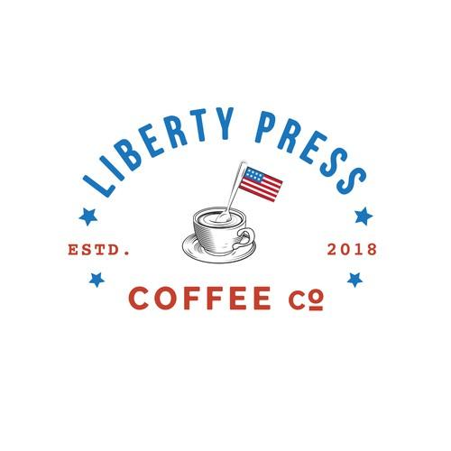 Liberty Press Coffee Company - Logo